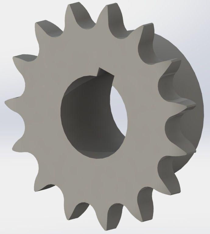 Zincir Dişlisi (15 Diş-24 mm)