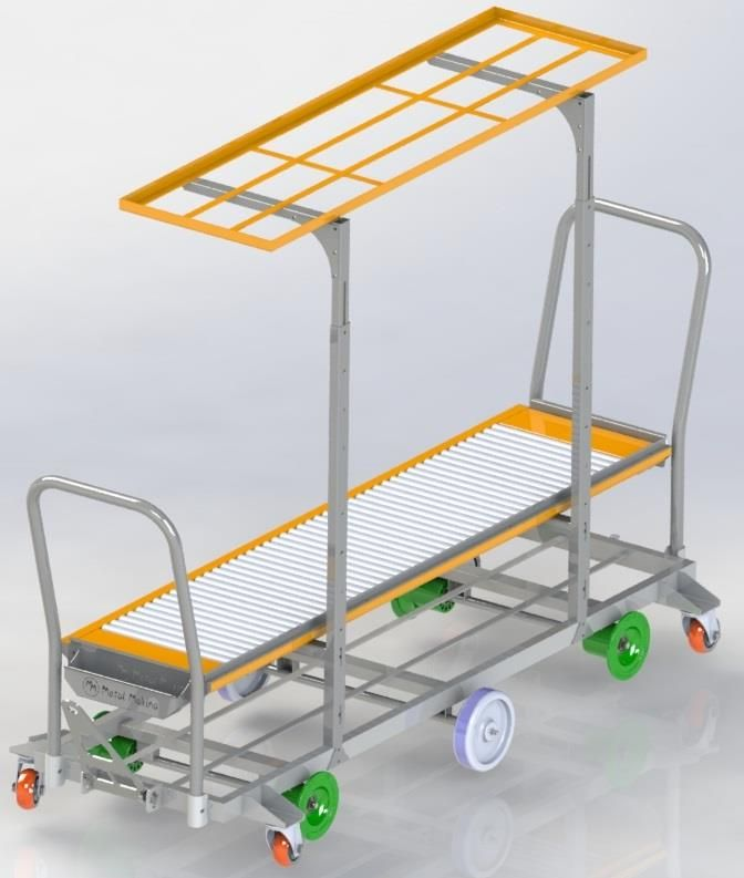 HST-03 Reel Harvesting Trolley (With Box Putter)