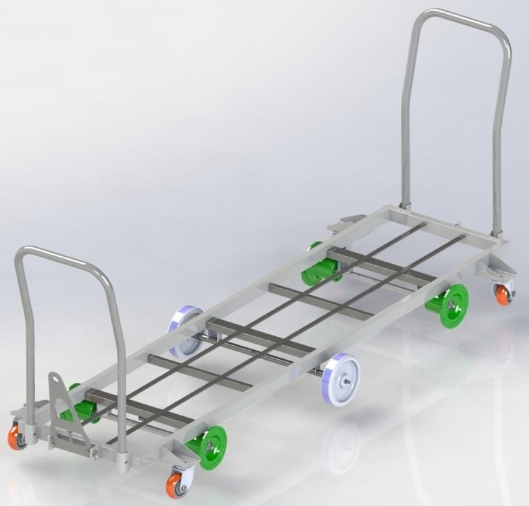 HST-06 Grid Type Harvesting Trolley